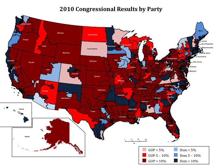 2010 Congressional Results by Party